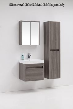 Order Golden Elite Cabinets Bathroom Vanities - Labrador Maple Grey Collection Modern / / Wall-Hung / Maple Grey Wood Imitation / Soft-Closing / Melamine, delivered right to your door. Wall Hung Bathroom Vanities, 24 Inch Bathroom Vanity, Small Bathroom Storage, Bathroom Ideas, Grey Bathroom Interior, Grey Bathrooms, Bathroom Furniture, Small Toilet Room, Washbasin Design
