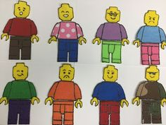 from the Biblio Files: LEGO Minifig Felties