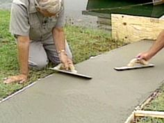The experts at DIYNetwork.com explain how to create a concrete path with these step-by-step instructions.