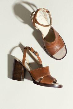 No.6 - Teak Leather Luisa Heel