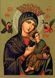 Escucha a este pecador que confía en tu Misericordia y Piedad y socórreme, Piadosísima Madre del Perpetuo Socorro      ¡Santísima Virgen M...