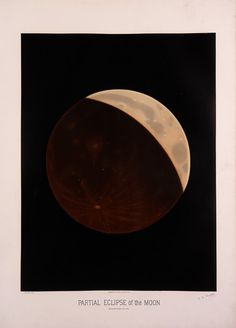 Etienne Leopold Trouvelot : Partial Eclipse of the Moon
