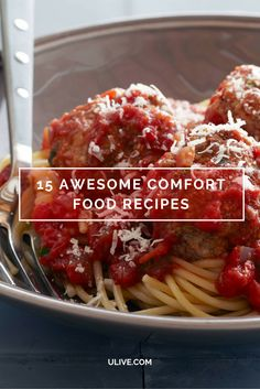Who doesn't crave a little comfort food at the end of a long day? Browse top comfort food recipes from your favorite chefs, like Ina's spaghetti and meatballs, Michael Symon's roast chicken, Alton's devil food cake and more >> http://www.ulive.com/playlist/chefs-favorite-comfort-food-recipes
