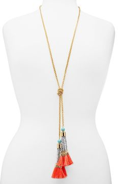 Free shipping and returns on BaubleBar 'Majorca' Lariat Necklace at Nordstrom.com. Layers of tassels add playful movement to a colorful lariat necklace that knots jauntily around the neck, making this the perfect accessory to top off your Mediterranean sailing—or Sunday-morning brunch—look.