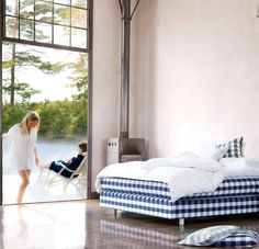 Hästens - The Bed of Your Dreams Last Day Of Summer, How To Make Bed, Dreaming Of You, Design Inspiration, Doors, Warm, Pure Products, Interior Design, Bedroom