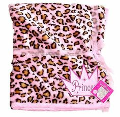 """Leopard Princess Plush Blanket - 50"""" x 60"""" by INI. $39.99. Fleece throw blanket that has Leopard Print all over it. Measures 50"""" x 60"""" It's very soft and cozy. Perfect for the little Princess in your life!. Comes wrapped with ribbon and retail tags. Reverses side is Matching Pink Ultra Suede. This is for the really nice Plush Blanket with Leopard Print. The blanket is brand new in packaging. This blanket is super SOFT and very cute. Dimensions are 50"""" x 60"""". Reverses..."""