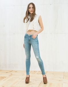 Bershka España - Jeans super skinny regular waist