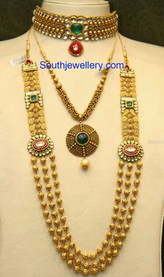 antique choker necklace and haram set
