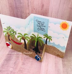 Hello my crafty peeps! Today's card is a graduation card using my adaptation of the Z-fold card. Z Cards, Pop Up Cards, Paper Cards, Stampin Up Cards, 3d Paper, Card Making Templates, Card Making Tutorials, Making Ideas, Fancy Fold Cards