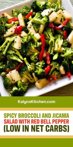 Chili Garlic Sauce, Spicy Broccoli, Broccoli Salad, My Favorite Food, Favorite Recipes, Toasted Sesame Seeds, Black Sesame, Healthy Food Options, Low Carb Recipes