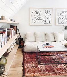 The Surfrider Hotel Malibu ( Boho Living Room, Living Room Decor, Living Spaces, Loft Design, House Design, Colorful Apartment, House Rooms, Apartment Living, Interior Inspiration