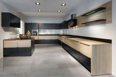 Nobilia Modern Kitchen - Timber Finish Nobilia Kitchen, Home Decor Kitchen, Kitchen Ideas, Kitchen Designs, Modern Kitchen Renovation, Kitchen Renovations, Wood Countertops, Cuisines Design, Black Kitchens