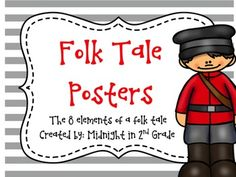 These posters were created to enhance your folk tale unit. They are a great resource for your students to refer to as they read and learn about folk tales and for writiing their own.We hope you enjoy!Stef & Colleen