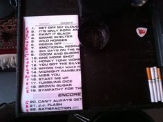 Chicago 1: set list. Wish I was there! Maybe night 2 or 3??  If I win the lotto, ha