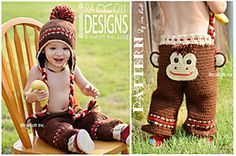 Ravelry: CROCHET PATTERN Silly Monkey Hat and Pants pattern by Ira Rott