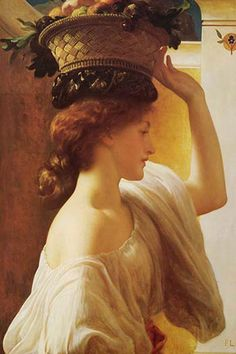 Eucharis - Girl with a Basket of Fruit, by Frederick Leighton
