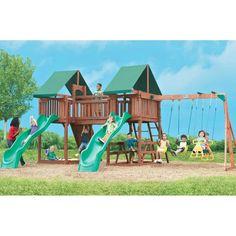 Swing Town Sequoia Playset - Swing Sets at Hayneedle, $1,500