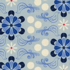Cotton and Steel House Designer - SS Bluebird - Diner in Blue