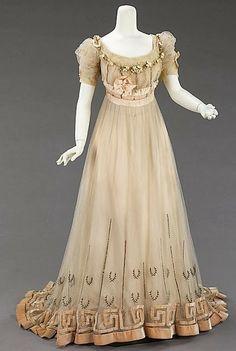 1905-1907 Evening Dress  Jeanne Paquin, The Metropolitan Museum of Art