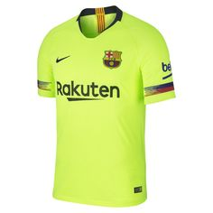 2018 19 FC Barcelona Vapor Match Away Men s Soccer Jersey Size M (Volt).  Playeras De FutbolLigarCamisas ... 23bb6fae89d0f