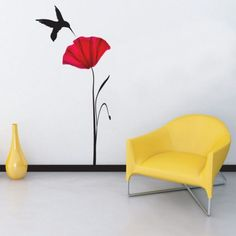 Poppy Wall Sticker by Abode Wallart at BOUF