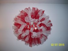Valentine's Day Deco Mesh Wreath I made