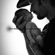 Cowboy daddy & newborn