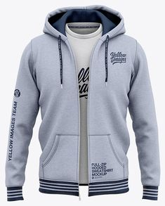 Full-Zip Heather Hooded Sweatshirt - Front View Of Hoodie. Unzipped heather hoodie with switchable heather t-shirt as an inner layer.The t-shirt is switchable. Sleeveless Shirt, V Neck T Shirt, Mens Sweatshirts, Shirt Outfit, Hoods, Shirt Designs, Clothing Items, Mens Fashion Hoodies, Kangaroo Pouch