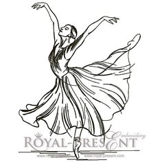 Machine Embroidery Design - Young ballerina (3 in 1), $2.99