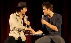 Ian Somerhalder and Paul Wesley Do Accents at the Bloody Night Convention in Spain Part 3