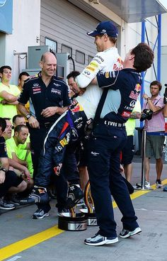 Funny picture of Sebastian Vettel and Christian Horner after the #GermanGP