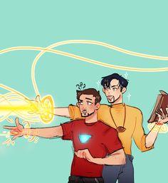 Strange teaching Tony how to use magic Disney Marvel, Marvel Dc Comics, Marvel Avengers, Loki, Thor, Avengers Memes, Marvel Memes, Tony Stark, Paladin