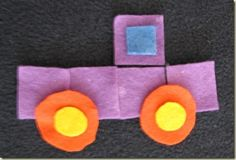 Geometric shapes truck with template from mamasmiles.com