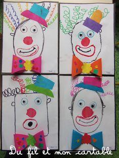 Clown Crafts, Carnival Crafts, Ladybug Crafts, Kindergarten Art, Preschool Art, Jolly Phonics, Clowning Around, Puffy Paint, Circus Theme