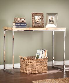Look at this #zulilyfind! Tan Marble Scanlyn Console Table #zulilyfinds