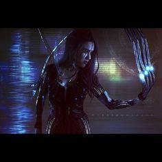 Systemic Recharge. #tansiestephens #hybridgothica #digitalart #cyberpunk #cybernetic #cyberpunkart #future #futuristic #blue #metal #android #gits #deusEx #dark #darkscifi #instaart #metalarm...