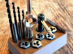 This #tap and #die #set from Home Depot is good, but comes in a throwaway plastic shell and the bits are not labeled with the corresponding tap. This organizer keeps them stored compactly, even...