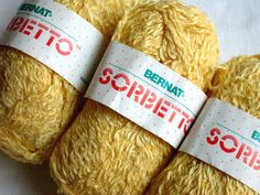 Bernat Sorbetto (discontinued cotton linen acrylic blend yarn)