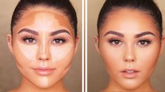5 Easy Contouring And Highlighting Tutorials - The Glossychic How To Do Contouring, Contouring For Beginners, Foundation Contouring, Makeup Tutorial For Beginners, Contouring And Highlighting, Contouring Round Face, Face Contouring Makeup, Easy Makeup Tutorial, Contour For Round Face