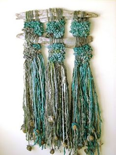 Marianne Werkmeister Textile Art – this kind of art is my favorite for summer do… - FIBER ART Weaving Textiles, Weaving Art, Tapestry Weaving, Loom Weaving, Hand Weaving, Birds And The Bees, Textile Fiber Art, Weaving Projects, Woven Wall Hanging