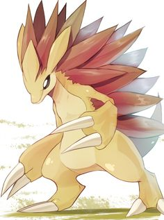 My Sandslash is named Maurice.  I'm taking him to the Elite Four.  Mad Defense stat on dis boi right here.