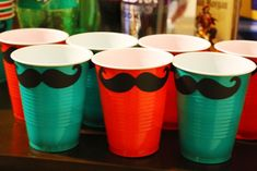 Mario Birthday Cups--- using plastic cups