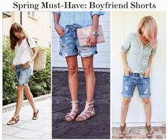 Sweetie Pie Style: Spring Must-Have: Boyfriend Shorts! #bloggerstyle