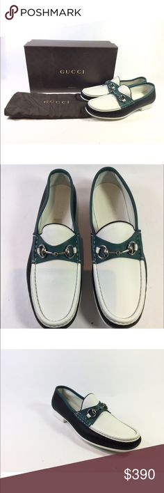 Men's Gucci Multi Color Leather Horsebit Loafers Men's Gucci Men's Gucci Multi Color Leather Horsebit Loafers. New. Never Worn. MSRP: $720 + tax = $795 Size 9G (Please know your gucci size. They usually run 1 size larger) = 10US. Box and Dustbag Included. Gucci Shoes Loafers & Slip-Ons