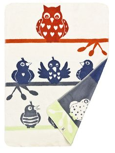 Organic Cotton Childrens Blanket - Farby the Owl