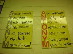 Acrostic Poems for synonym and antonym