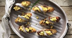 Egg and Anchovy Bruschetta