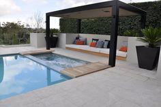 Pergolas For Sale At Costco Small Backyard Pools, Backyard Patio Designs, Swimming Pools Backyard, Backyard Pergola, Swimming Pool Designs, Outdoor Spaces, Outdoor Living, Porches, Villa
