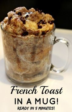 French Toast in a Mug breakfast recipe by Princess Pinky Girl