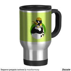 Emperor penguin cartoon 15 oz stainless steel travel mug